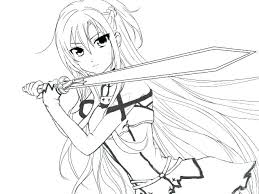 Anime Girls Coloring Pages Cute Girl Coloring Pages Anime Girls Kids