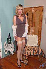 Mature Blonde MILF Jodi West with Big Tits Wearing Stockings.
