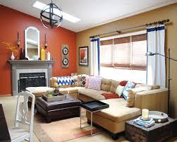 orange wall paintBedroom  Room Colour Combination Orange Living Room Ideas Orange