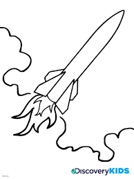 Small Picture Rocket Coloring Page Discovery Kids