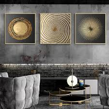 modern wall art black abstract