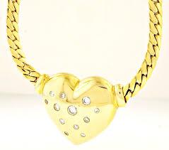 18ct yellow gold 165 diamond033ct heart pendant 20x19mm