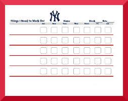 Baseball Charts Printable American League Baseball Behavior Charts