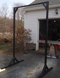 how to build a homemade outdoor free standing pull up bar