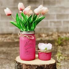 Shabby Chic Mason Jars, Flower Vases, Quart size & 8oz Jars, Spring Time,  Bathroom Displays, Mother's Day Gift, Home Decor