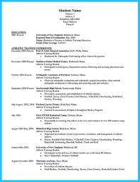 athletic training resume samplesathletic trainer resume cover letter .