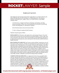 Employment Agreement Contract Best Executive Employment Agreement Contract Template With Sample