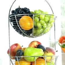 countertop fruit stand fruit basket 2 tier stand