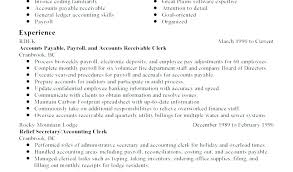 Accounts Receivable Resume Examples Skills Sample Clerk Template Best Accounts Receivable Resume