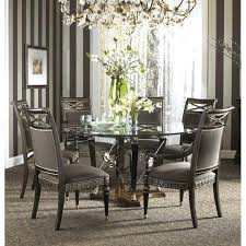 fine furniture design inch round glass top dining table ff diat 48 kitchen oval