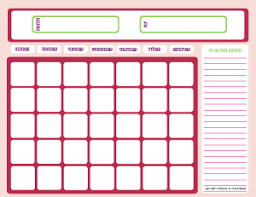 Blank Monthly Chore Chart Blank Month Calendar Pinks Free Printable Downloads From