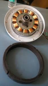 brushless dc ceiling fan motor magnets for solar fan dc fan size od151mm id