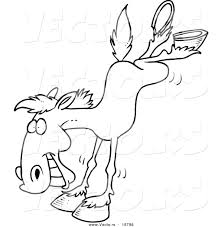 Rearing Horse Coloring Pages | Vector of a Cartoon Bucking Horse ...