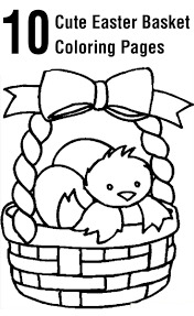 10 Cute Easter Basket Coloring Pages