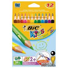 Карандаши цветные BIC Evolution 12 цветов ... - ROZETKA