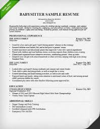 How To Put Babysitting On A Resume How To Put Babysitting On A Resume Template Resume Examples
