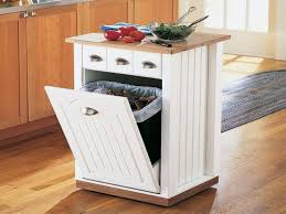 Decorative Kitchen Trash Cans Kitchen Island With Trash Bin Design The Kitchen Area Decoration