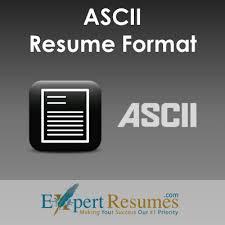ascii format resume text resume format