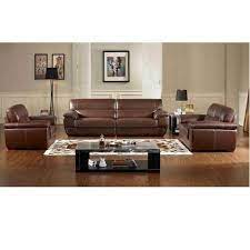 brown modern leather sofa set for home