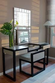 Large Bedroom Vanity Furniture Modern Black Bathroom Vanity With White Porcelain Sink