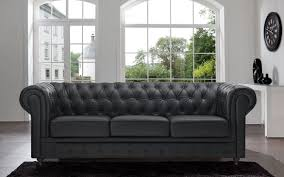 classic scroll arm tufted on leather chesterfield sofa