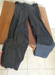 a photograph showing the waterproof rain liner that is included in the airglide 4 pants and
