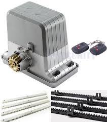 full automatic 1800kgs electrical sliding gate opener sliding gate motor gate operator with 2 4 6 8 transmitters 6 1 meter racks