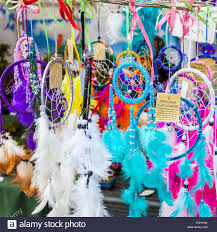 What Stores Sell Dream Catchers Dream catchers for sale on a market stall Nottingham England UK 11