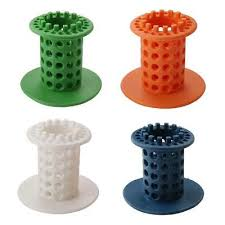 silicone hair catcher stopper bath shower drain filter hair trap 4 colours uk