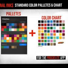 Eternal Ink Color Chart Procreate Tattoo Whipshade Shading Brush Set 57