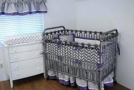 purple and grey crib bedding elephant