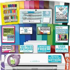 silhouette cameo 3 machine bundle 21 sketch pen pack guide 25 colors vinyl