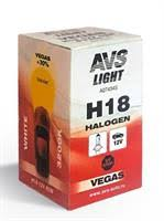 """<b>Лампа</b> галоген"""" <b>Vegas</b> H18"""" 12В 65Вт, 1шт <b>AVS</b> A07434S ..."""