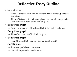 embedded assessment writing about my cultural identity topic 3 reflective essay outline introduction