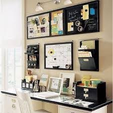 Creative Home Office Organizing Ideas - Organized on Wall. A creatively  organized home office boosts your mood and will help make you more  productive.