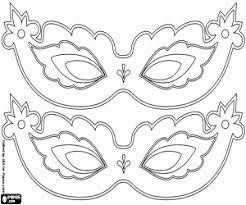 Kleurplaat Carnaval Maskers Te Decoreren Kleurplaten