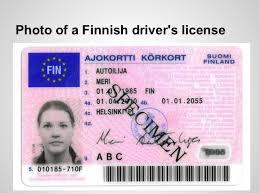 Finnish License Finland Driving Finnish License Driving