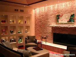 wall accent lighting. Interesting Wall Wall Accent Lighting Concept Full Panelled Fireplace With Hidden  Art In Wall Accent Lighting W