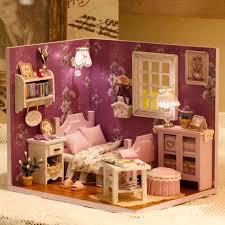 handmade dolls house furniture. Diy Wooden Miniature Doll House Furniture Toy Miniatura Puzzle Model Handmade Dollhouse Creative Birthday Gift Sweet Dolls R