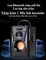 Loa Karaoke Bluetooth Công Suất Lớn CÓ MIC A18 - Công Nghệ Kết Nối Bluetooth  4.1 Đường