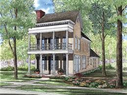 plantation house plans. Plain Plans Charming Plantation Styled Narrow Lot Design For House Plans O