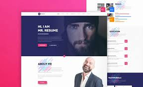 Cv Resume Web Templates Awesome Resumes Website Resume Personal