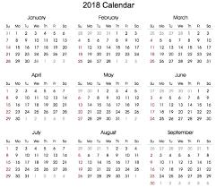 Free 2018 Calendar 2018 Printable Calendar 2018 Calendar