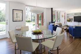 glass table top dining room transitional with round glass table cream dining chairs round glass table czmcam org