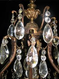 ch42 large antique spanish cut crystal and bronze 15 light for contemporary residence spanish crystal chandelier ideas