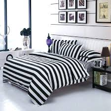 striped linen duvet cover classical black and white cotton bedding set home textile bed bedclothes twin striped linen duvet cover