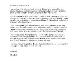 Personal Reference Letter Samples Templates Character For