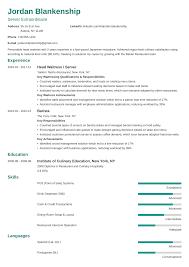 Waitressing Resume Waiter Waitress Resume Sample Guide 20 Examples