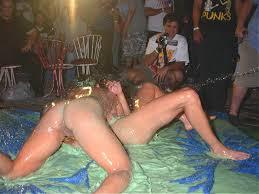 Nude women mud werstling
