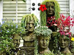 unusual and upcycled container gardens